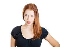 Childish bully woman Stock Photos