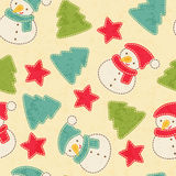 Childish Christmas seamless pattern with snowmen royalty free illustration