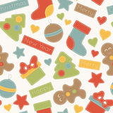 Childish Christmas seamless pattern royalty free illustration