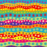 Childish colorful background with dots and strips. Childish colorful pattern with dots and strips vector illustration
