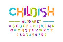 Free Childish Colorful Font Stock Images - 126762934