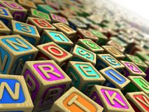 Childish cubes Stock Image