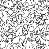 Childish cute pastel colored floral seamless pattern, vector Stock Photo