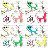 Childish doodle stickers Stock Photos