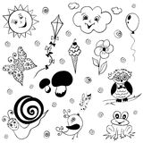 Childish doodles Royalty Free Stock Photo