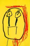 Childish drawn portrait Royalty Free Stock Image