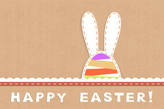 Childish easter card Royalty Free Stock Photography