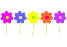 Childish flowers Royalty Free Stock Images