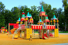 Childish fortress on the playground Stock Images