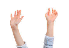 Childish Hands Isolated Royalty Free Stock Photos