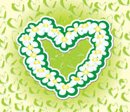 Childish heart of flowers Stock Images