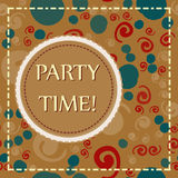 Childish holiday background for invitation card, carnival party poster, cover decor. It is a Party Time. Vector. It is a Party Time. Childish holiday background Stock Photos