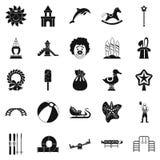 Childish icons set, simple style. Childish icons set. Simple set of 25 childish vector icons for web isolated on white background Royalty Free Stock Photos