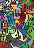 Childish mosaic Stock Images