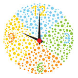 Childish multicolor clock. Royalty Free Stock Photos