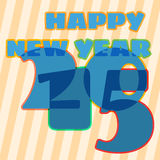 Childish New Year card with 2015 sign. New Year card with soft blue 2015 sign royalty free illustration