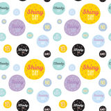 Childish pattern with cute smiley weather icons Stock Photos