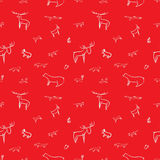 Childish pattern of wild animals Royalty Free Stock Image