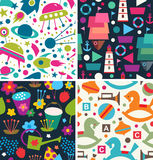 Childish patterns Royalty Free Stock Photography