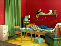 Childish room. With red wall royalty free stock images