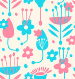 Childish seamless floral pattern Stock Image