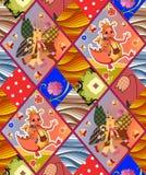 Childish seamless patchwork pattern Stock Image