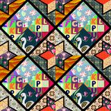 Childish seamless patchwork pattern Royalty Free Stock Photo