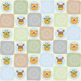 Childish seamless pattern with animal toys Royalty Free Stock Photos