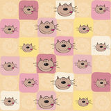 Childish seamless pattern with cats Stock Photos