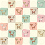 Childish seamless pattern with cats Stock Photography