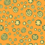 Child seamless pattern with colorful stylized stars or snowflakes. Childish texture for fabric, textile, wrapping paper Stock Images