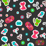 Childish seamless pattern with cute animals Royalty Free Stock Photos