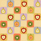 Childish seamless pattern with fruits Royalty Free Stock Image