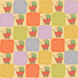 Childish seamless pattern with strollers Royalty Free Stock Photography