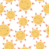 Childish seamless  pattern with suns Royalty Free Stock Photography