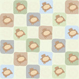 Childish seamless pattern with teddy bear Stock Image