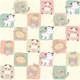 Childish seamless pattern with toys Stock Images