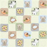 Childish seamless pattern with toys Royalty Free Stock Image