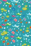Childish seamless spring background Royalty Free Stock Images