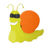 Childish snail in sunglasses Royalty Free Stock Photography
