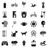 Childish sports icons set, simple style. Childish sports icons set. Simple set of 25 childish sports vector icons for web isolated on white background Royalty Free Stock Image