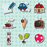 Childish stickers Stock Photography