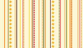 Childish stripes and ornaments wallpaper Royalty Free Stock Photography