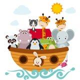 Childish style illustration of Noah`s ark Stock Images