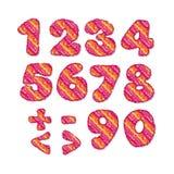 Childish style numbers set Stock Photos