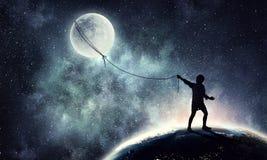Childish sweet dreams . Mixed media Royalty Free Stock Photo