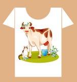 Childish t-shirt design Stock Image