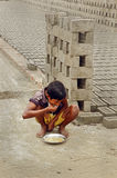 Childlabour at the Brick-field Royalty Free Stock Photo