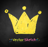 Childlike drawing of crown Royalty Free Stock Images