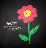 Childlike drawing of flower Royalty Free Stock Photography
